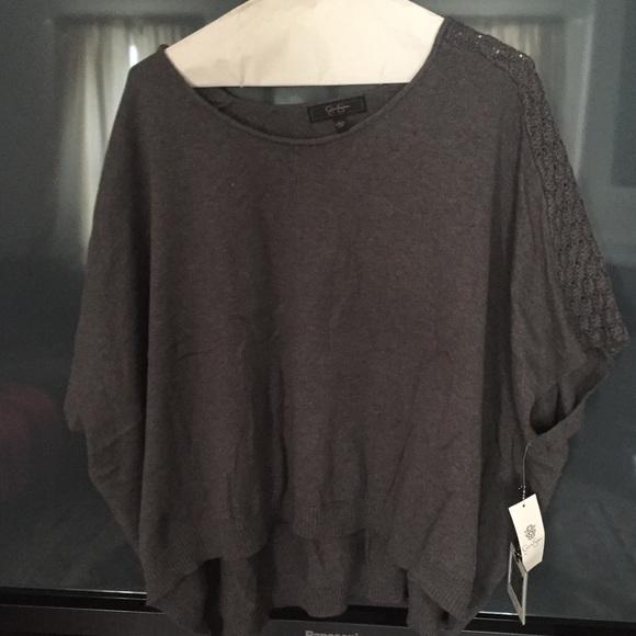 f39f74c72d264 Jessica Simpson Sweaters | Nwt Short Sleeve Gray Sweater L | Poshmark